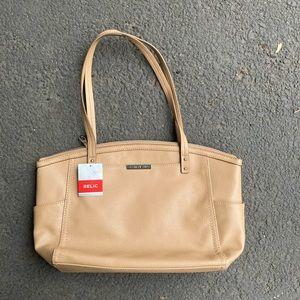 Relic Tan Caraway Medium Tote Handbag Purse